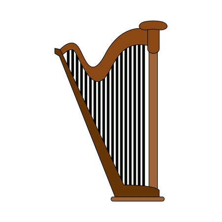 Harp musical instrument icon, vector illustration, graphic design