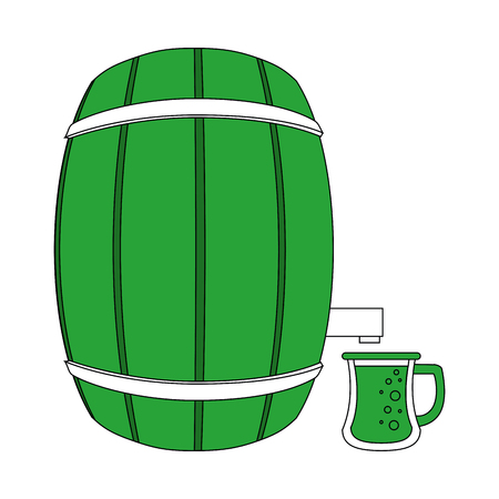 Beer wooden barrel icon vector illustration graphic design Illustration