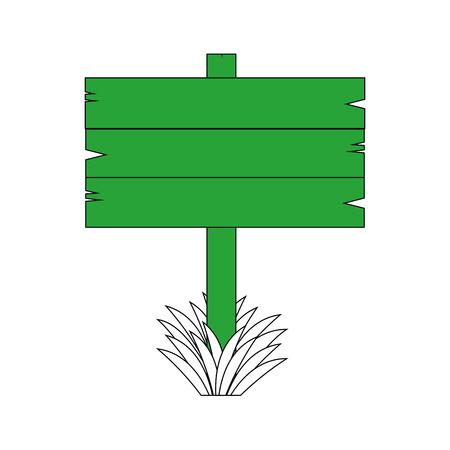 Lege houten voorziet illustratie grafisch ontwerp van wegwijzers Stock Illustratie