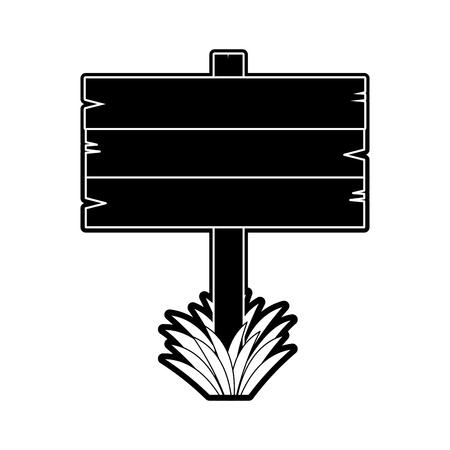Lege houten voorziet het grafische ontwerp van de pictogramillustratie van wegwijzers