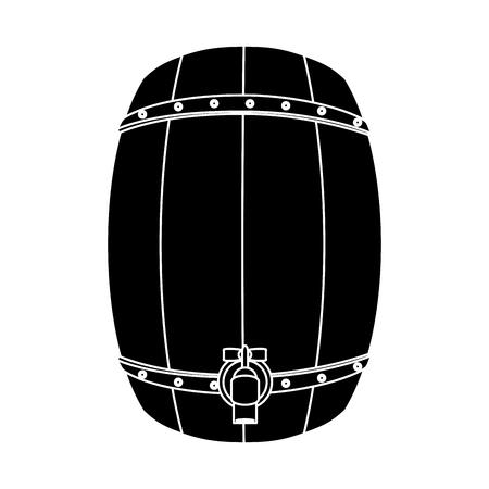 Bier Holzfass Symbol Vektor-Illustration Grafik-Design Standard-Bild - 95630834