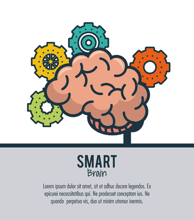 Smart brain ideas vector illustration graphic design
