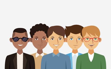 Jeunes gens dessin animé illustration vectorielle conception graphique Banque d'images - 96055251