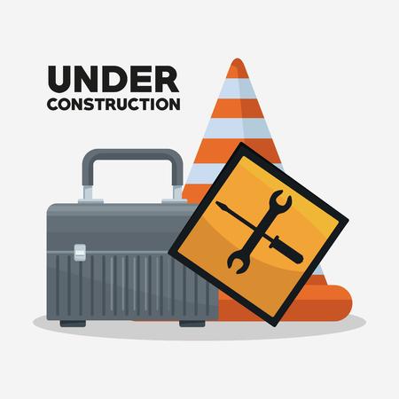 Under construction equipment icon vector illustration graphic design