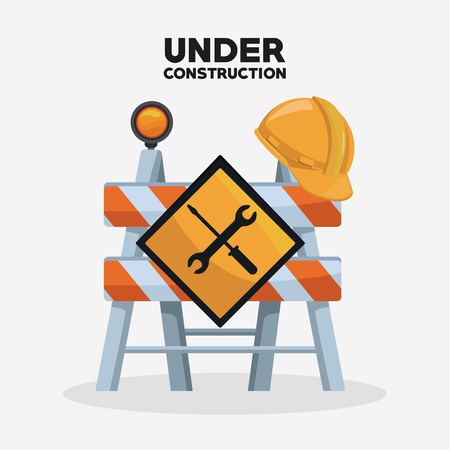 Under construction barrier icon vector illustration graphic design