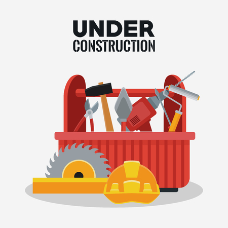 Under construction equipment tools icon vector illustration graphic design