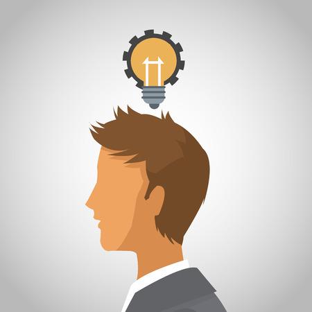 Business man with idea vector illustration graphic design. Vector Illustration
