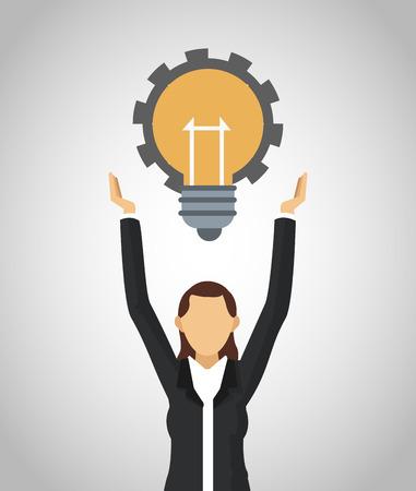 Businessman with big idea vector illustration graphic design. Vector Illustration
