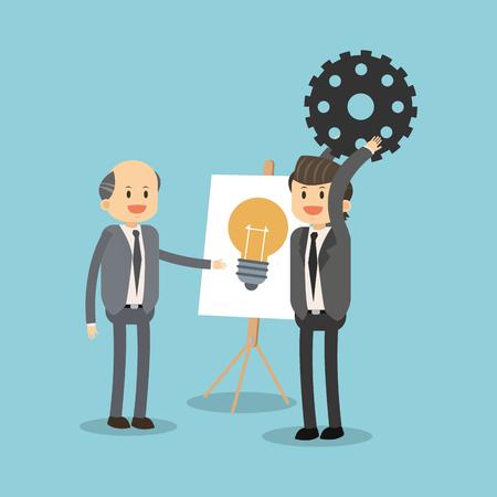 Geschäftsleute , die für Ideen vector Illustration Grafikdesign arbeiten Standard-Bild - 95916368