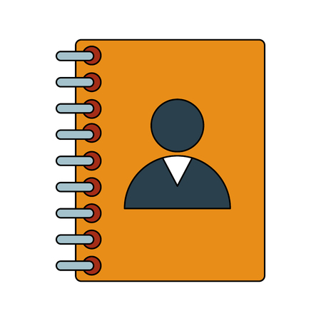 Address book symbol icon vector illustration graphic design.