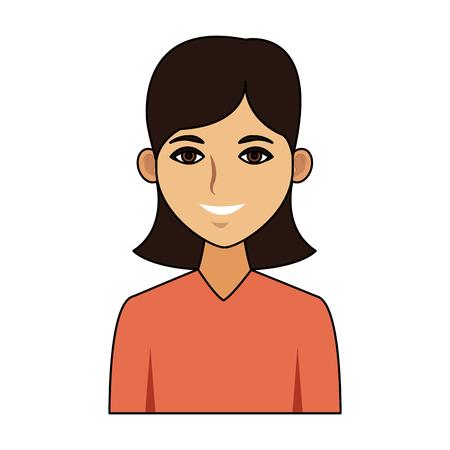Beautiful woman cartoon icon vector illustration graphic design.