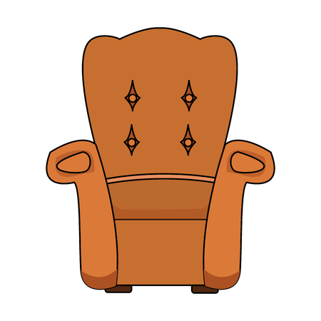 Armchair furniture isolated icon vector illustration graphic design. Illustration