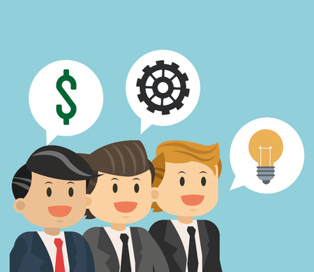 Business teamwork with idea vector illustration graphic design.