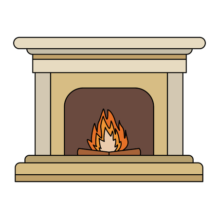 Chimney with bonfire icon vector illustration graphic design. Stock Vector - 95916499