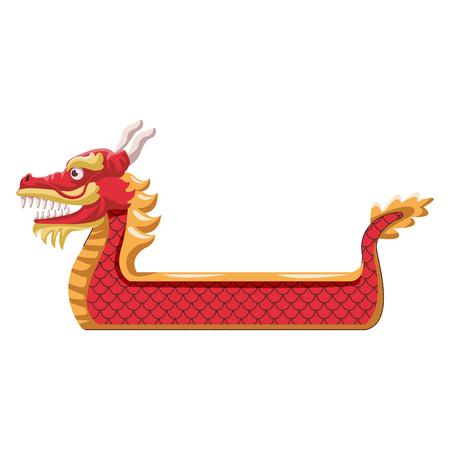 Dragon boat symbol icon vector illustration graphic design