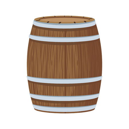 Wooden barrel isolated icon vector illustration graphic design