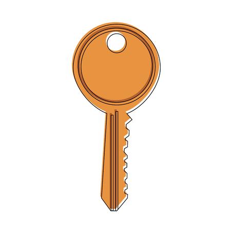 Key door isolated icon vector illustration graphic design