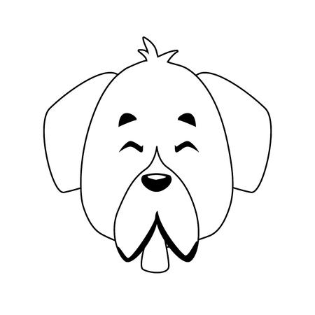 Dog pet cartoon icon vector illustration graphic design