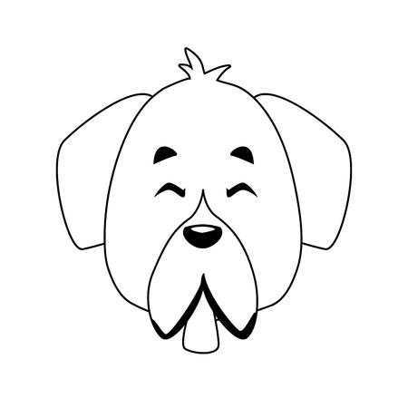 Dog pet cartoon icon vector illustration graphic design