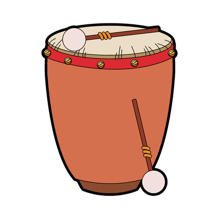 Drum with sticks icon vector illustration graphic design Stock fotó - 96013311
