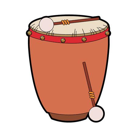 Drum with sticks icon vector illustration graphic design Vettoriali