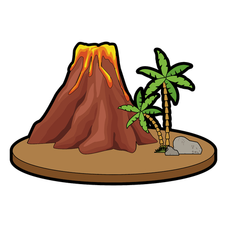 Volcanic with lava icon vector illustration graphic design Illustration