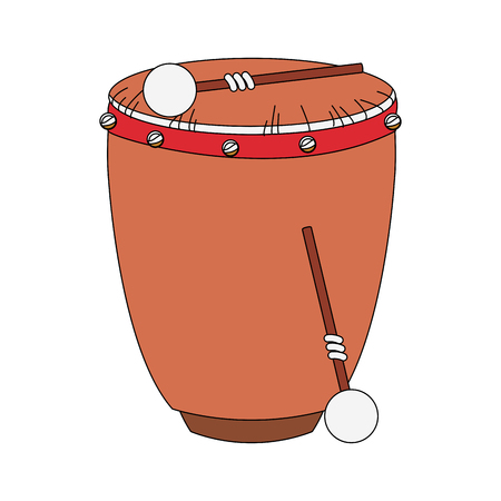 Drum with sticks icon vector illustration graphic design Ilustrace