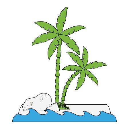Tree palms nature icon vector illustration graphic design
