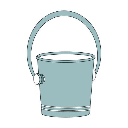 空の氷のバケツアイコンのベクトルイラストグラフィックデザイン