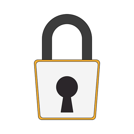Padlock unlock symbol icon vector illustration graphic design Ilustrace
