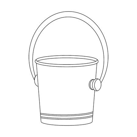Empty ice bucket icon vector illustration graphic design