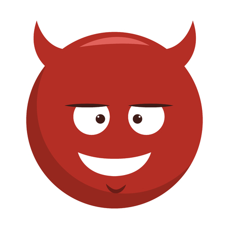 Devil emoji cartoon vector illustration graphic design