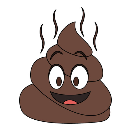 Emoji poop cartoon vector illustration graphic design