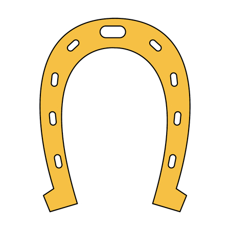 Horseshoe lucky symbol vector illustration graphic design Stock Illustratie