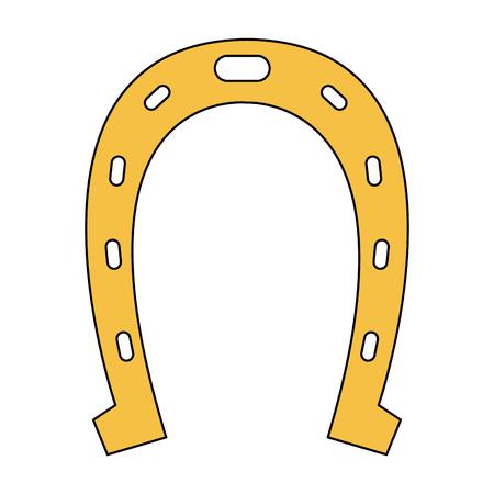 Horseshoe lucky symbol vector illustration graphic design Vectores