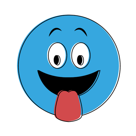 Emoji with tongue out vector illustration graphic design 向量圖像