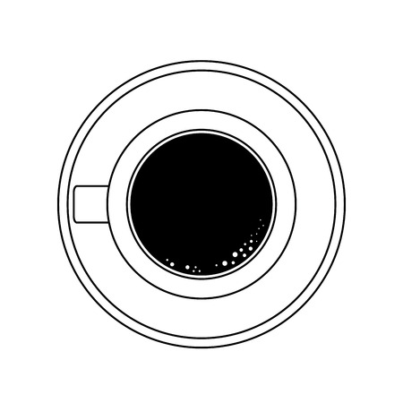 Coffee mug topview vector illustration graphic design