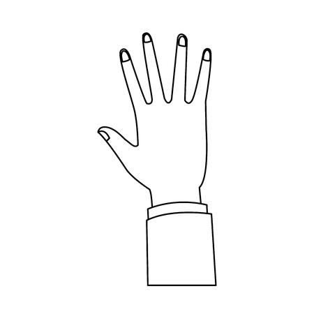 Hand omhoog geïsoleerd vectorillustratie grafisch ontwerp Vector Illustratie