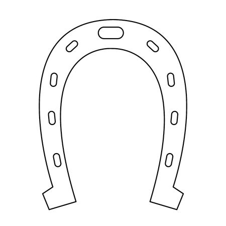 Horseshoe lucky symbol vector illustration graphic design Ilustração
