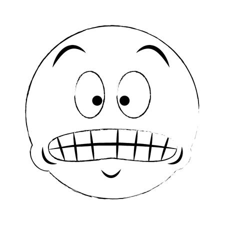Emoji forced smile vector illustration graphic design