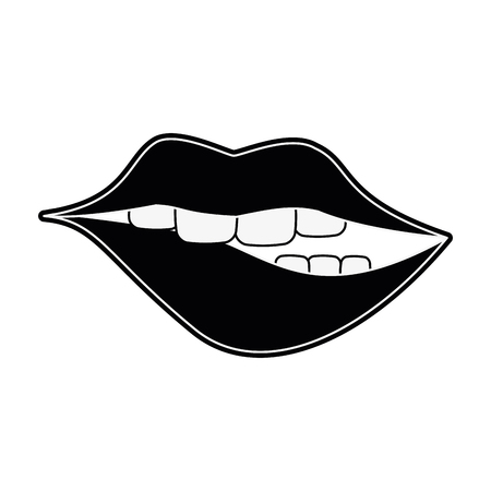 Sexy lips cartoon icon vector illustration graphic design icon vector illustration graphic design Illustration