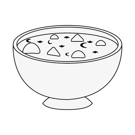 Soup delicious food icon vector illustration graphic design