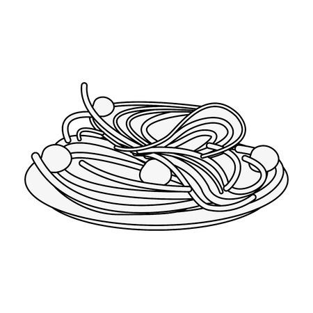 Spaguetti food restaurant icon vector illustration graphic design Stock Illustratie