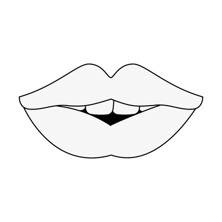 Sexy lips cartoon icon vector illustration graphic design