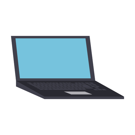 Laptop pc technology icon vector illustration graphic design Ilustrace