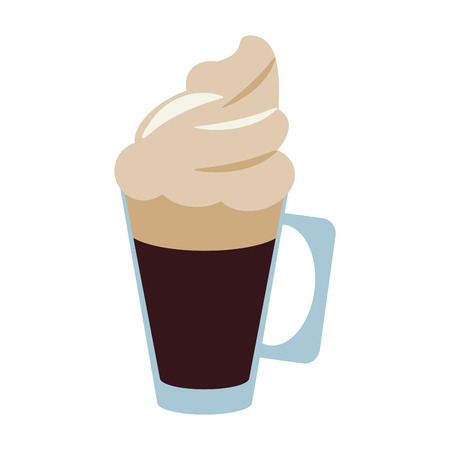 Delicioud cold coffee drink icon vector illustration graphic design