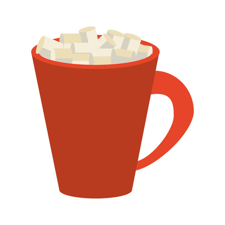 Cup with sugar cubes icon vector illustration graphic design