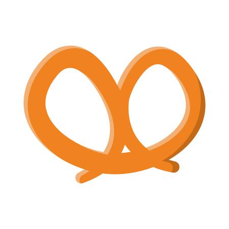 A pretzel pastry icon image vector illustration design