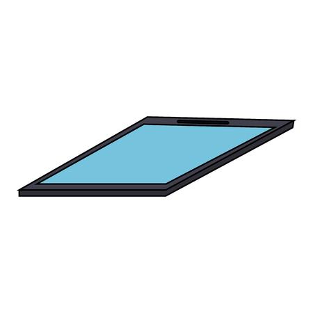 tablet with blank screen sideview  icon image vector illustration design  Illusztráció