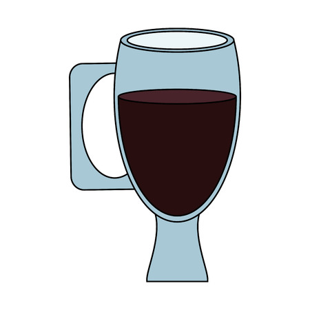 coffee in glass cup beverage icon image vector illustration design